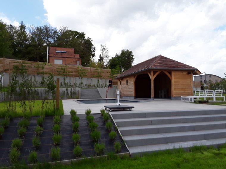 totaal project bio-zwembad terras en poolhouse