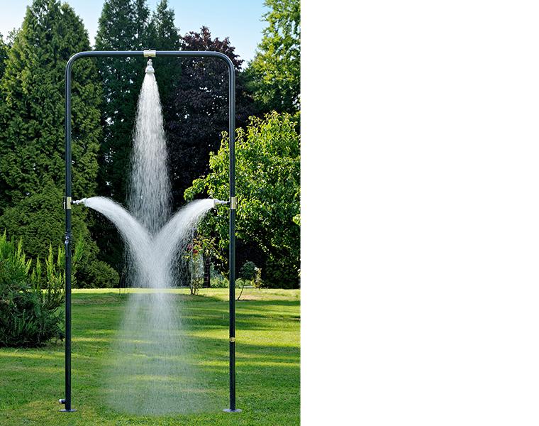 Stijlvolle buitendouches of tuindouches op maat well aqua - Prieel tuin leroy merlin ...